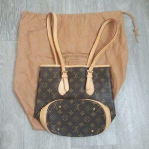 Authentic Louis Vuitton Brown Monogram 10in Bag